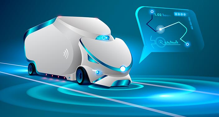 Au volant du camion autonome et connecté